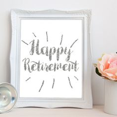 Retirement PRINTABLE Happy Retirement Party by luxeprairie on Etsy