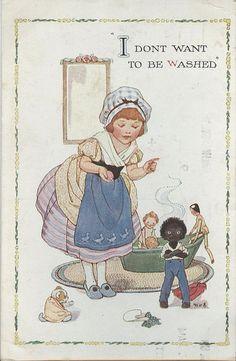 Joyce Lankester Brisley, children's writer and illustrator, was born on Feb 1896 in Bexhill-on-Sea, Sussex. Vintage Pictures, Vintage Images, Vintage Children's Books, Vintage Kids, Childhood Friends, Kids Cards, Book Illustration, Childrens Books, Sisters