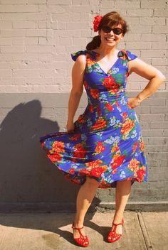 "à partir du patron ""tiramisu""  a fabulous rendition of butterick 5603 for a sundress"