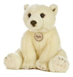 "This beautiful and realistic stuffed 11"" sitting Polar Bear makes a perfect gift for any animal lover! Fine quality, exceptional detail and soft to the touch, Aurora's Miyoni line captures the beauty"
