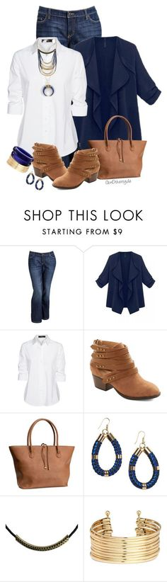 """Curvy Woman - Plus Size"" by ginothersyde ❤️ liked on Polyvore featuring Old Navy, Steffen Schraut, H&M, Monki, Zoemou and 333"