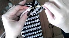 how to crochet houndstooth pattern - YouTube