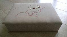 Boîte à boutons - cartonnage - boîte cousue brodée - Tatiana Alves