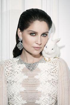 Photographer: Walter Pfeiffer  Model: Laetitia Casta  Vogue Paris October 2012