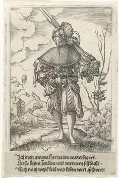 Landsknecht met enorm zwaard, Virgilius Solis (I), Anonymous, 1524 - 1562