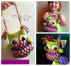 Owl Purse Crochet PATTERN Owl Mason Jar Cover / Cozie by TheGimpyHooker