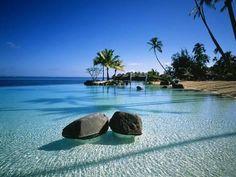 Resort Tahiti French Polynesia Impressão fotográfica