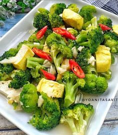 Baked Shrimp Scampi, Padang, Recipe Details, Vegetable Recipes, Asian Recipes, Broccoli, Recipies, Food And Drink, Lunch