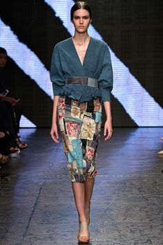 Donna Karan Spring 2015 RTW – Runway – Vogue. and yet another. DK really does know the female form and desire for clothing