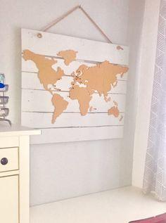 mapa mundi pizarra corcho sobre palet reciclado Bedroom, Drawings, Diy, House, Tumbler, Maps, Blog, Rooms, Decoration
