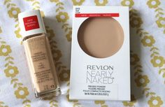 Revlon Nearly Naked. Dupes for Urban Decay's Naked Skin and MAC's Studio Fix Powder. Best drugstore foundation combo for us pale gals.