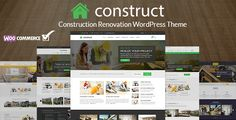Buy Construct - Construction WordPress Theme by themepiko on ThemeForest. CONSTRUCT is a business theme designed specifically for Construction Renovation Building Business companies and thos. Template Wordpress, Tema Wordpress, Wordpress Theme, Computer Theme, Building Renovation, Theme Template, Photography Themes, Construction Theme, Business Company