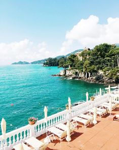 Cozy patio overlooking the beautiful waters of Spiaggia, Italy.
