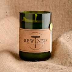#Rewined Candles Pinot Grigio- smooth and crisp with light oak, subtle minerality and citrus.