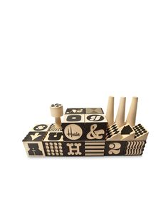 Alphabet Factory Blocks by Uncle Goose at Gilt