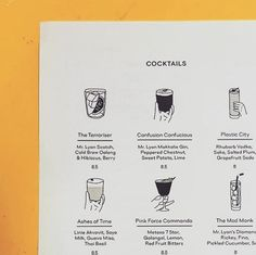 Very creative menu design combining illustration. Cafe Menu Design, Food Menu Design, Restaurant Menu Design, Restaurant Branding, Restaurant Restaurant, Graphic Design Branding, Corporate Design, Graphic Design Illustration, Brochure Design