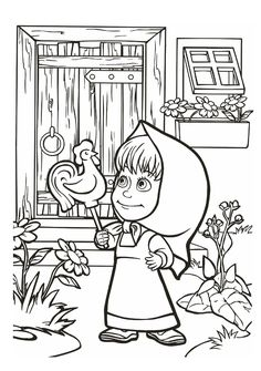 22 Best Masha And The Bear Coloring Sheets Images In 2018 Coloring