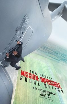 "Tom Cruise reprises his role at secret agent Ethan Hunt in ""Mission: Impossible - Rogue Nation"""