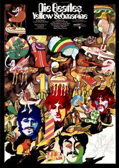 Heinz Edelmann   Poster artwork for german film poster The Beatles - Yellow Submarine