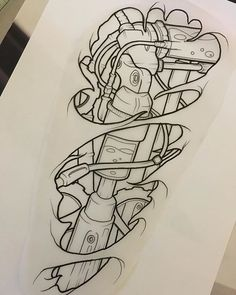 Sketch for cover tattoo #elcarnicero#tat2#tattoo#tattoos#tatuaje#tatooed#tattooboy#tattoogirl#inked#inkedboy#inkedgirl#inkedlife#tattoolife#biomechanical#cover#colortattoo#silverbackink#intenzeink#eternalink#sullen#sketch#sketching#peaucedee#biomecanique