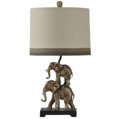 "Armstrong Stacking Elephant Novelty 28"" Table Lamp"