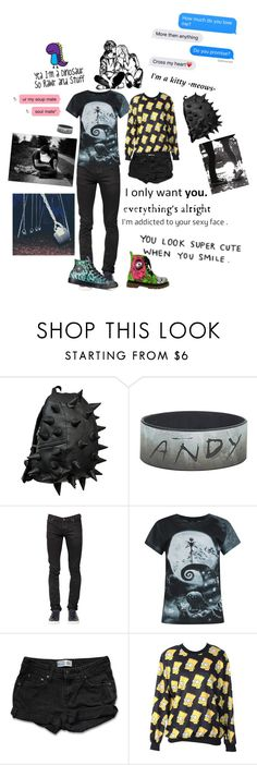 """""""Untitled #122"""" by xximsimply1hellofabutlerxx ❤ liked on Polyvore featuring MadPax, Nudie Jeans Co., Iron Fist, Levi's and Converse"""
