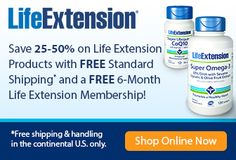 Life Extension Save 25-50% Free Shipping + FREE 6-Month Membership   #blackfridaycoupon http://bit.ly/1ybZ3VS    #vitamins #supplements #health #thanksgiving   Be healthy and smart! Happy Thanksgiving
