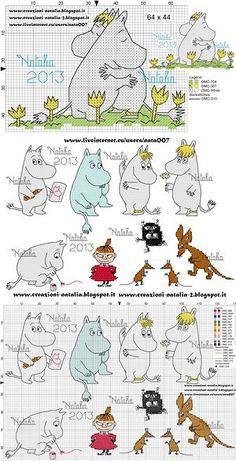 Bilderesultat for муми тролль вышивка Tove Jansson, Knitting Charts, Cross Stitch, Comics, Baby, Image, Tricot, Crossstitch, Comic Book