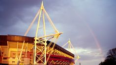 Millennium Stadium in Cardiff Olympic Football, Olympic Games Sports, Olympic Gymnastics, Olympic Athletes, Gymnastics Quotes, Millennium Stadium, Cardiff City, Cardiff Wales, Cards