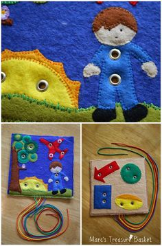 Free Quiet Book Pattern - Felt Airplane Busy Book - Red Arrows