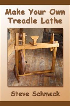 Make Your Own Treadle Lathe by Steve Schmeck. Both printed and ebook versions. Make Your Own Treadle Lathe by Steve Schmeck. Both printed and ebook versions. Wood Turning Lathe, Wood Turning Projects, Wood Lathe, Diy Lathe, Green Woodworking, Woodworking Tips, Lathe Projects, Wood Projects, Garage Atelier