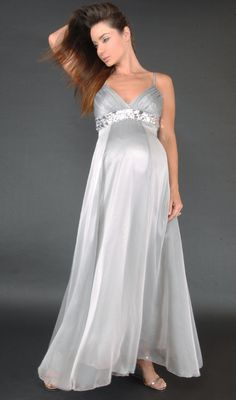 Modest Empire Straps Ankle-length Maternity Wedding Dress - Maternity Wedding Dresses