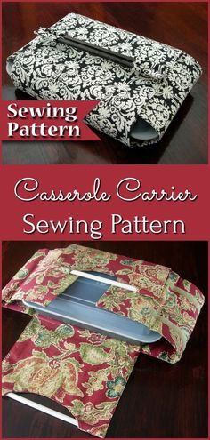 Casserole Carrier Sewing Pattern | PDF Sewing pattern DIY | Instant download | Do it yourself | Casserole holder pattern | Tutorial | Dish cozy #etsy #ad #sewingpattern #pdf