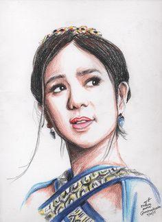The Encantadia Portrait Project on Behance Disney Princess Frozen, Celebrity Portraits, Portrait Art, Kylie, Taehyung, Sisters, Mary, Behance, Lovers