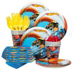 Check out Hot Wheels Wild Racer Birthday Party Standard Tableware Kit (Serves 8)…