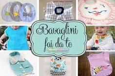 bavaglini fai da te, Baby Crafts, Baby Knitting Patterns, Hobbies, Baby Art Crafts