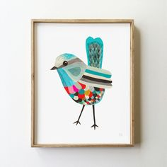 Superb Fairy Wren - Fine Art Print - Inaluxe is an independent art studio combining the talents of fine artists Kristina Sostarko and Jason Odd.