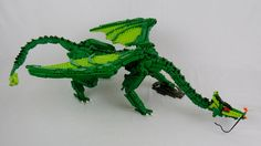 I thought I had a fair amount of green when I started. As seen invading the rather awseome Tigelfáh Castle and Town at Steam. Legos, Lego Dragon, Lego Universe, Lego Creator Sets, Step On A Lego, Lego Sculptures, Lego Animals, Lego Builder, Lego System