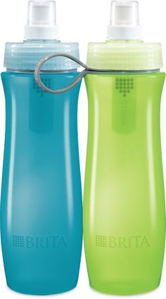 Amazon.com: Brita Soft Squeeze Water Filter Bottle, Twin Pack, Blue & Green: Home & Kitchen