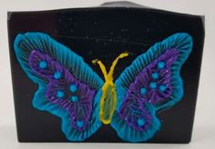Just having some fun with leftover soap. Brush Embroidery, Have Some Fun, Soaps, Butterfly, Hand Soaps, Butterflies, Soap