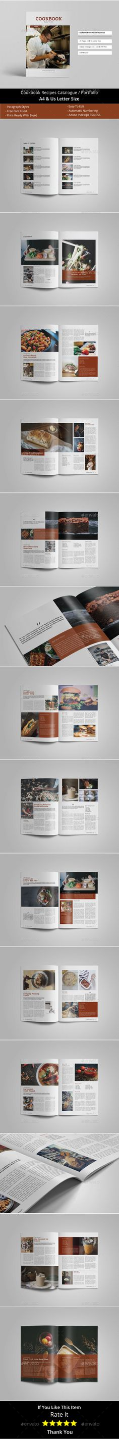 Cookbook Recipes Catalogue / Brochure - #Catalogs #Brochures Download here: https://graphicriver.net/item/cookbook-recipes-catalogue-brochure/19502783?ref=alena994