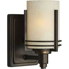 "Check out the Forte Lighting 5389-01-32 4-3/4""W x 8-3/4""H 1 Light Bath Wall Sconce in Antique Bronze priced at $57.51 at Homeclick.com."