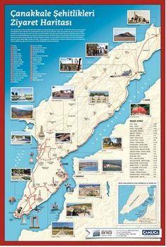 Çanakkale şehitlikleri ziyaret haritası infografik | INFOGRAFIK