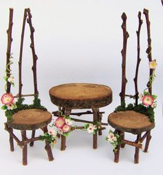 fairy garden furniture so peaceful for a little girls room