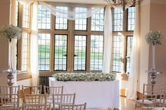The Wilde Bunch bringing masses of white gypsophila and white Ranunculus for a winter wedding ceremony at Coombe Lodge. It looked perfect with the dusting of snow outside. Winter Wedding Ceremonies, Wedding Ceremony, Wedding Venues, White Ranunculus, Lodge Wedding, Gypsophila, Wedding Season, In The Heights, Wedding Flowers