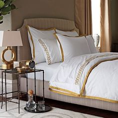 White And Gold Bedding