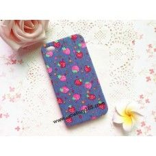 Strawberry Fabric iPhone 4/4s/5 Case
