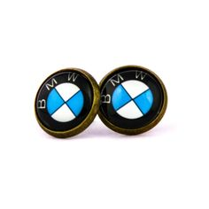 Novelty BMW logo stud earrings. BMW fan logo earrings. Bmw. Personalised  jewelry accessories gift. BMW lovers gift. by Mysstic on Etsy