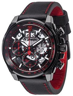 0e312bc89105 DETOMASO Men s Quartz Stainless Steel and Leather Casual Watch