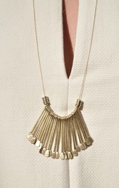 Anaïse / Etten Eller Long Hammered Nail Necklace
